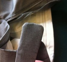"Compare this waistband extension to the one I made in my blog entry ""Bespoke Trousers"""